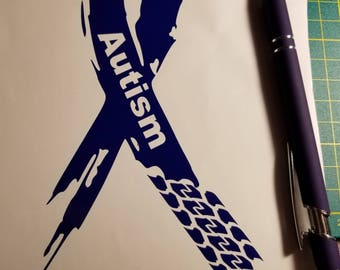 Support Ribbon Autism Vinyl Decal Sticker Car Truck SUV Jeep Boat Motorcycle