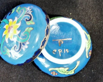 Del Prado Fine Porcelain - Blue Pill /Trinket Box Miniature Collectors Series e.p.15