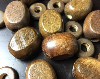 Brown Wood Oval and Rondelle Bead Mix -- 19 ct.