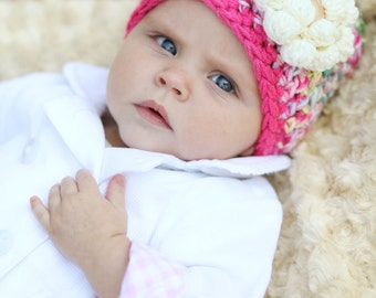 Christmas Gift Ideas - Baby Girl - Baby Girl Gift - Super Soft Hat - Warm and Cozy Hat - Baby Girl Winter Hat