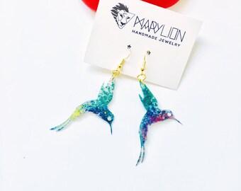 Bird earrings - Hummingbird Earrings - Bird jewellery - Gifts for women - Earrings bird - Gift for her - Trending jewelry - Fashion earrings