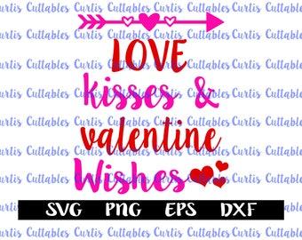 Love Kisses Valentine Wishes