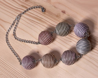 """Beaded necklace natural style """"sea freshness"""""""