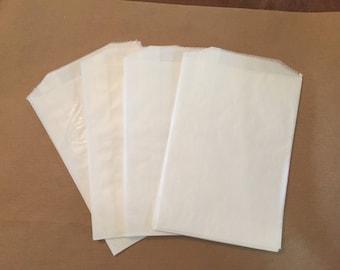10  6 1/2 x 4 3/4 Glassine Bags