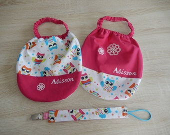 """Personalized baby """"owls"""" set"""