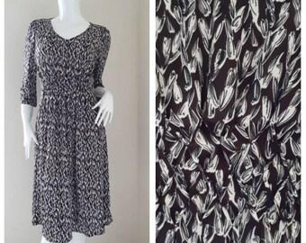 Rayon Floral Print Dress Size 40