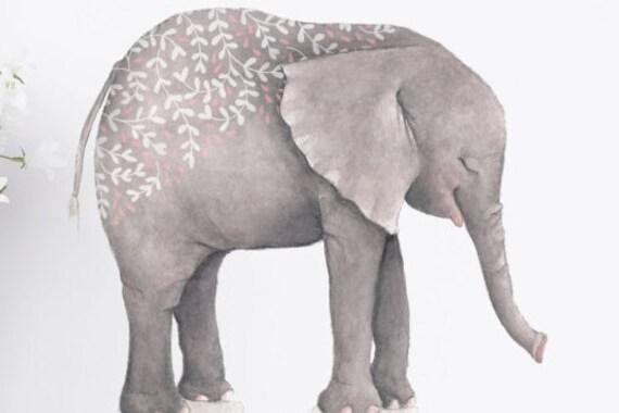 Grey Elephant Art Print