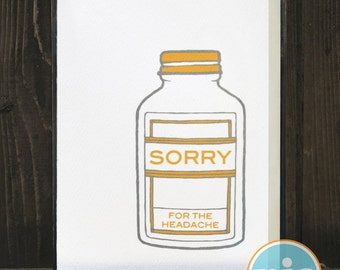 Sorry For The Headache - Sorry/Get Well