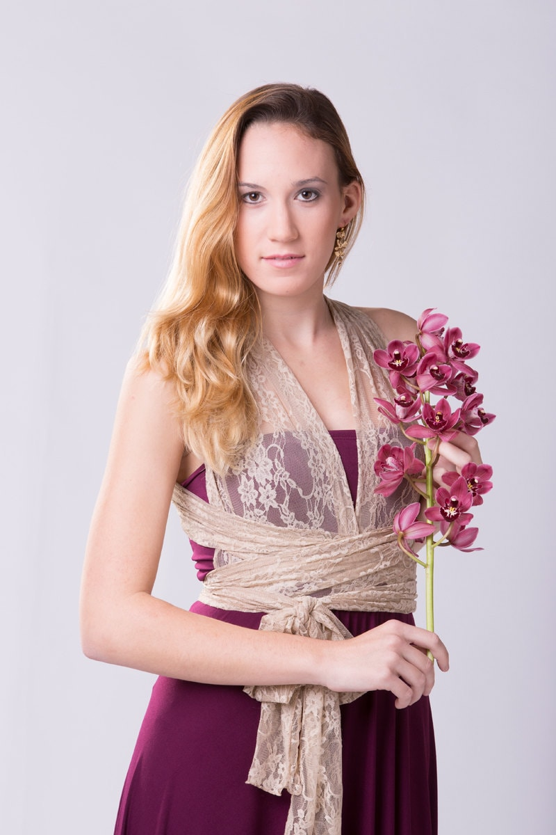 Vestido Vintage Encaje vestido largo evento romántico