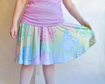 Pastel Dragons Skater Skirt