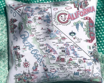 I LOVE CALIFORNIA Decorative Pillow COVER