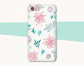 Watercolor Flower Phone Case, Flower iPhone Case, iPhone 6 Case, iPhone 7 Plus Case, Floral iPhone Case, iPhone Case Flowers, iPhone 6S Plus