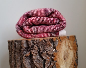 Woven blanket - red marbled