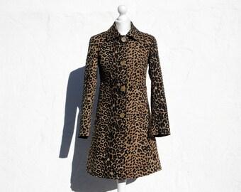 Animal print trench coat pin up trench coat leopard print coat animal print coat