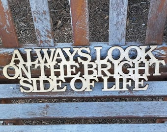 Inspirational Laser Cut Wood Sign, Wall Hanging