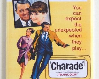 Charade Movie Poster Fridge Magnet