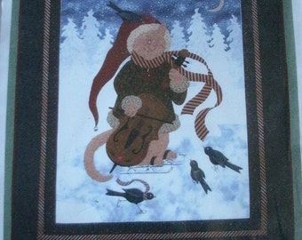 """Moonlight Serenade Christmas Wall Hanging 24"""" x 26"""" from Dolls, Dreams & Other Things  Copyright 2002 NEW UNCUT Pattern  2002"""
