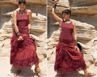 Gypsy skirt, bohemian skirt, belly dance skirt, convertible skirt, multiway, festival clothes, alternative apparel - Kerdil (0074)