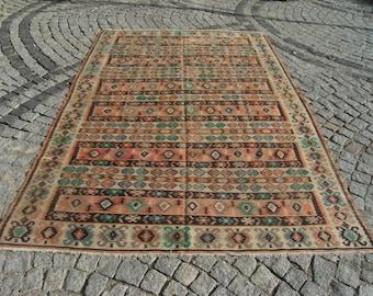 Vintage     Manastır     Pirot     Kilim     Rug      75,5''  X  112,2''   inches