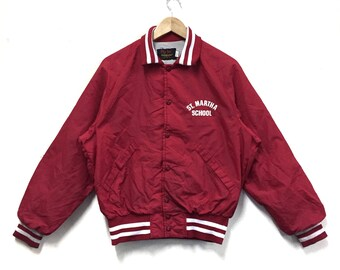 Rare!!! Pla-jac By Dunbrooke Jacket Vintage 80s Varsity Jacket bomber