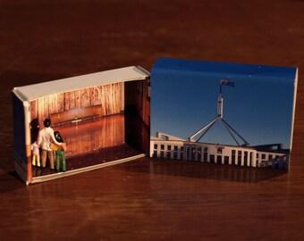 Matchbox Building: Matchbox Miniature of Parliament, Canberra, Australia.