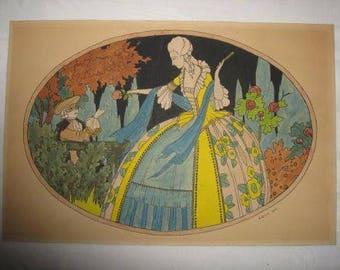 A hand-colored pochoir J. Spits, 1933 ...