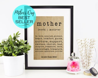 Definition of a Mother Gift for MOM | Personalized Mother's Day Gift | Birthday Gift for Mom | Gift from Son or Gift from Daughter Mom Gift