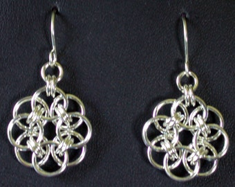 Flower Earrings in Argentium Sterling Silver