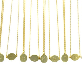 Birdhouse Jewelry - Gold Initial Pedant Necklace