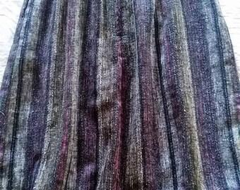 Multi-colored striped skirt