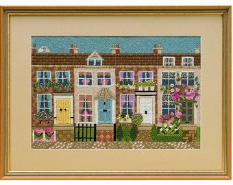 TPX 121 Terrace Town Houses Textured Tapestry Needlework Kit