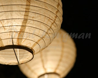 Paper Ball Lamps Photography