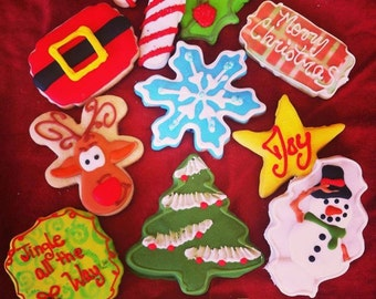 Christmas Butter Cookies decorated christmas cookies  christmas themed sugar cookies  assorted styles