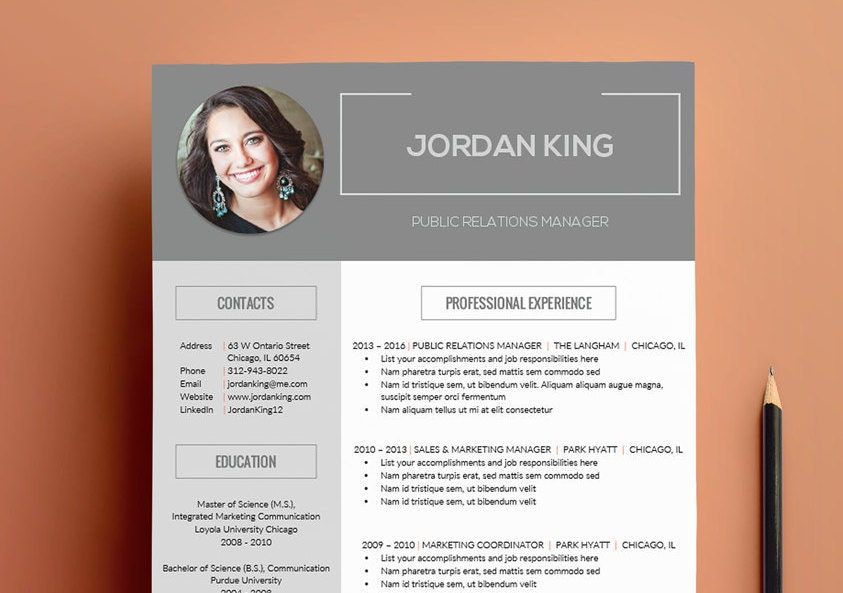 Modern Resume Design with Sidebar Layout for Word Fully