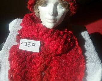 Campfire Red Hat and Scarf Set