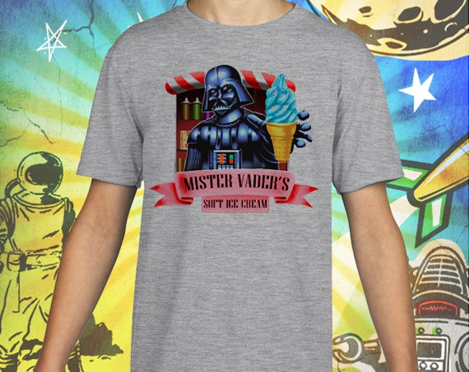 Star Wars / Mister Vader / Soft Ice Cream / Gray Child Size Performance T-Shirt