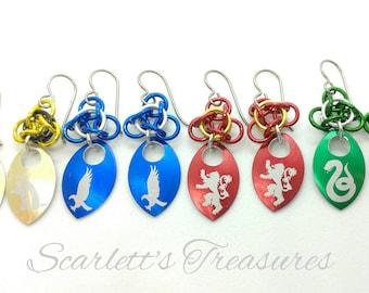 Wizard house earrings