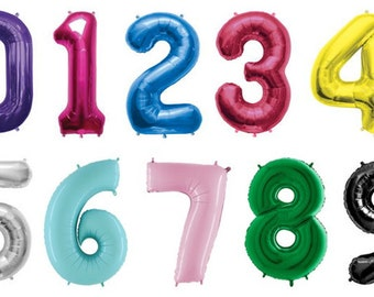 Giant Number Balloons | Choose Your Color - Choose Your Number | Birthday Decorations