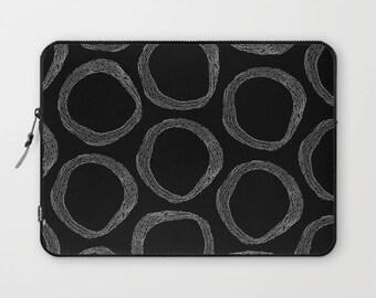 Lenox Black and White Laptop Sleeve, Laptop Cover, Sleeve, Laptop Sleeve 13, Laptop Sleeve 15, MacBook Sleeve 13, Laptop Sleeve 13 inch