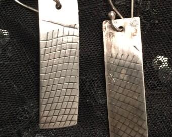 Texture sterling earrings