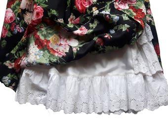 Vintage floral roses skirt No. 42