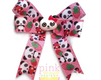 Cute Panda Girl Zoo Hair Bow