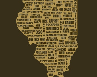 Drink Local- Illinois Beer T-shirt