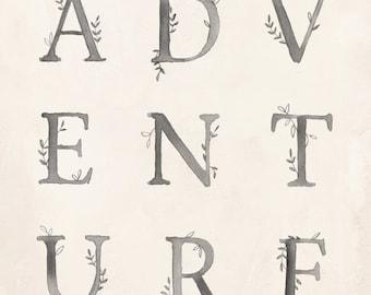 ADVENTURE art print - 8X10