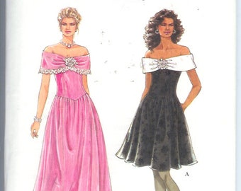 Simplicity- Misses Petite DRESS FORMAL Evening GOWN Easy Vintage Sewing Pattern 9320 Size A  6-16  Uncut  Its So Easy