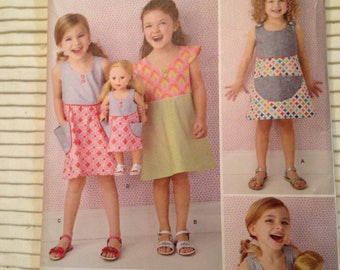 GIRL & DOLL simplicity Sewing Pattern 1379