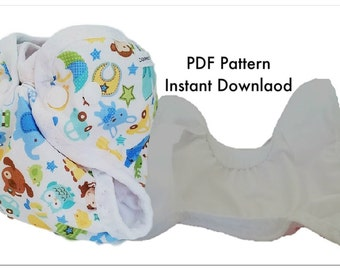 Newborn cloth diaper cover pattern instant download sewing pattern, Counting the Blessings newborn cloth diaper pattern, Digital download