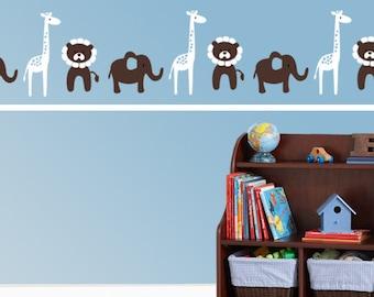 Nursery Decal Safari Decal Room Border Decal  Children Vinyl Wall Art Confetti decal