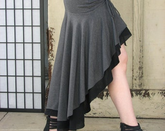 Belladonna high low skirt with adjustable ties