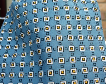 1960's Grey Blue Patterned Cravat